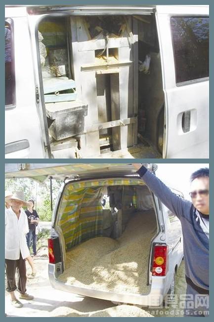 湖北:修车工自制吸稻车 吸盗稻米3000多斤