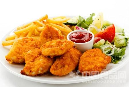 美研究发现快餐店鸡块内鸡肉含量不足一半